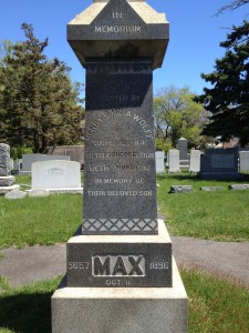 Max tombstone